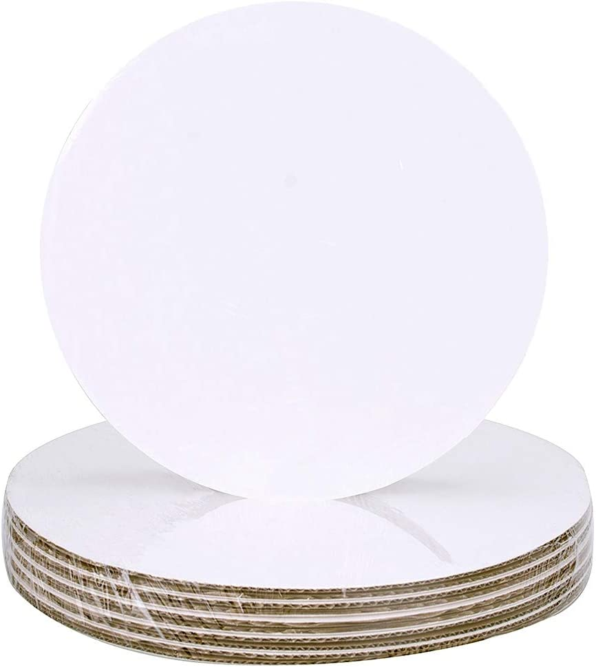 9 Round Coated Cakeboard 12 ct
