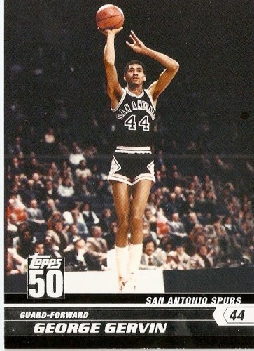 2007-08 (2008) Topps 50th Anniversary Limited Edition # 34 George Gervin / San Antonio Spurs - NBA Basketball Trading Cards
