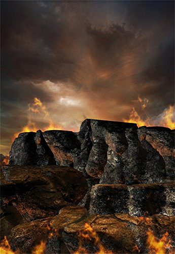 Laeacco Vinyl Thin Backdrop 3x5FT Photography Background Volcanic