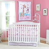 Summer Infant Pretty Pals 4 Piece Nursery Crib Bedding Set (Discontinued by Manufacturer)