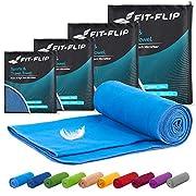 Fit-Flip Mikrofaser Handtuch Set – 15 Farben, 6 Größen – Ultra leicht, kompakt, & schnelltrocknend – Microfaser…