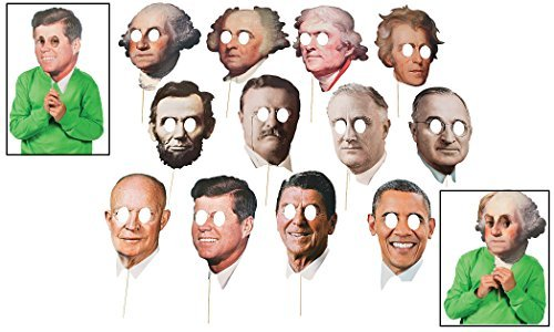Jfk Costumes (Presidents' Day Stick Props (12 Pack) 6 1/2