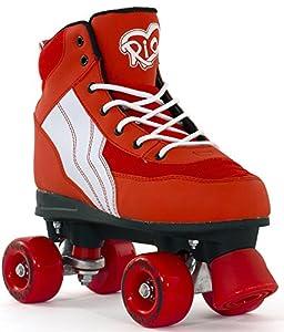 Rio Roller Pure Rollschuhe Disco Roller rot-weiß red-white, 38