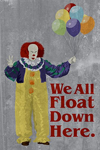 We All Float Down Here Minimalist Movie Poster 12x18 inch ()