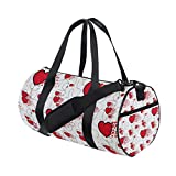 AHOMY Love Heart Sports Gym Bag Travel Overnight Duffel Bag for Men and Women