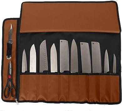 Bolsa para Cuchillos de Chef, Resistente, Oxford, para almacenar 10 Cuchillos y con Cremallera para Herramientas culinarias: Amazon.es: Deportes y aire libre