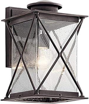 Kichler 49743WZCL18 Argyle Outdoor Wall Sconce 1-Light LED 10 Watts Weathered Zinc