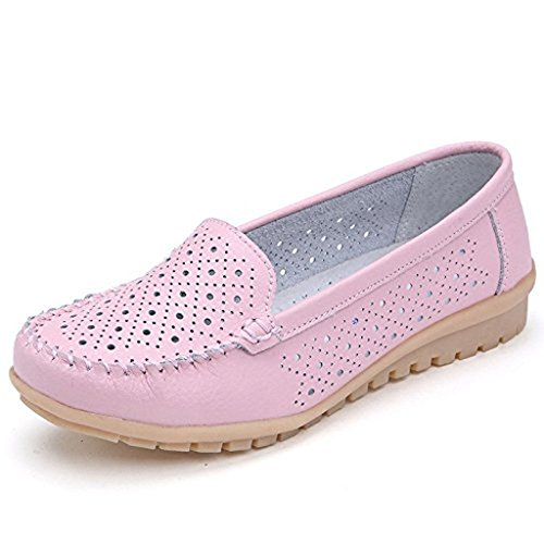 Maybest Womens Comfort Ball Slip On Flats Mocassini Scarpe Da Barca Rosa