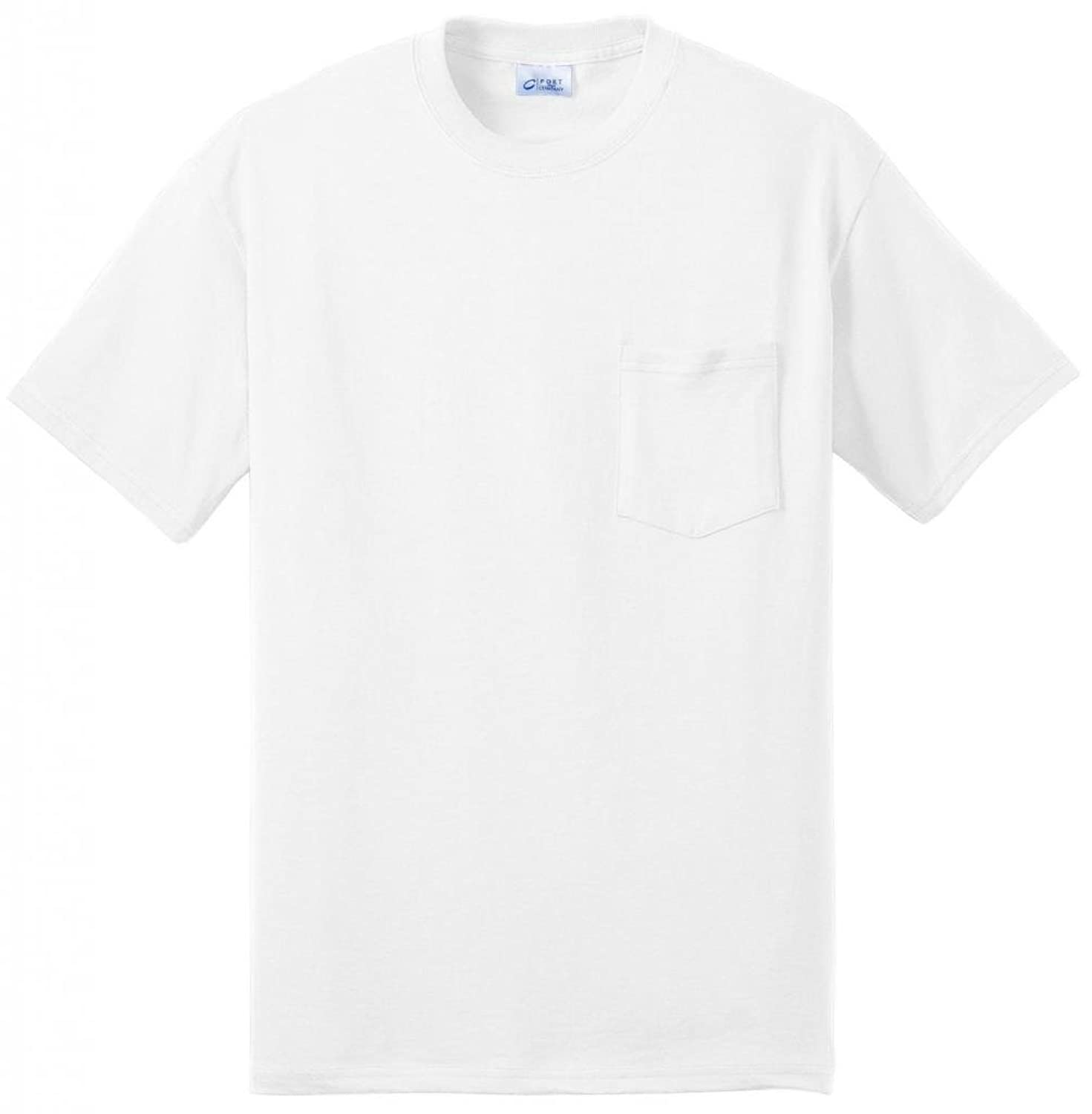 Port - Company Tall 50/50 Cotton/Poly T-Shirt with Pocket>4XLT White PC55PT
