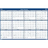 House of Doolittle 2016 Laminated Wipe Off Wall Calendar, Classic, Double Sided, Vertical and Horizontal, 24 x 37 Inches (HOD396-16)