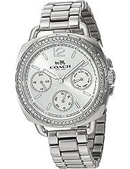 Coach Womens 14502569 Tatum Silver Tone Stainless Crystal Glitz Watch