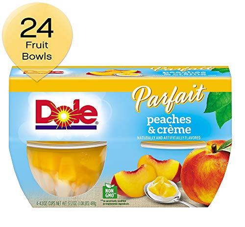 Dole Fruit Bowls, Peaches & Creme Parfait, 4.43 Ounce, 4 Count (Pack of 24) ()