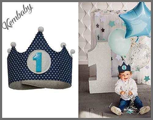 Corona primer cumpleaños 1 año para niños: Amazon.es: Handmade