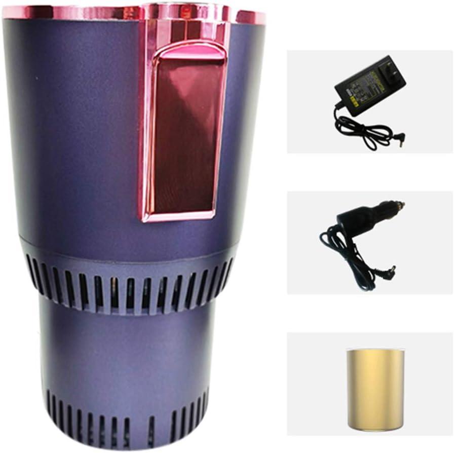 YICO Enfriador de Bebidas Copa Enfriadora Más Cálida Taza de Café Sostenedor de Bebidas Mini Refrigerador de Automóvil para Viajero Viajero Excursionista Recreación, 0 ℃ - 60 ℃, Negro/Púrpura/Azul