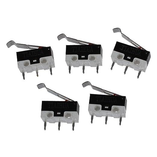 15 opinioni per TOOGOO(R) 5 Pz Sub micro Interruttore a leva AC 125V 1A SPDT