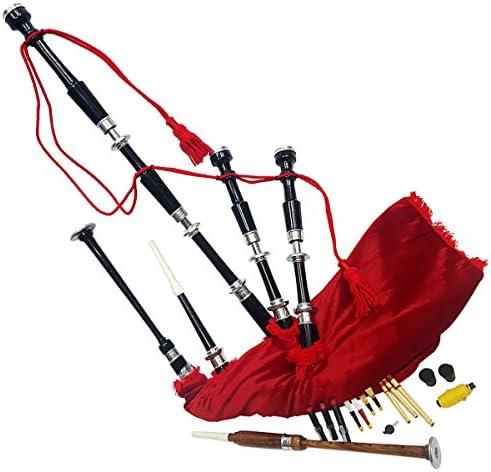 Great Highland Bagpipe 로즈우드 실버 마운트 무료 학습 책 및 액세서리 / Great Highland Bagpipe 로즈우드 실버 마운트 무료 학습 책 및 액세서리