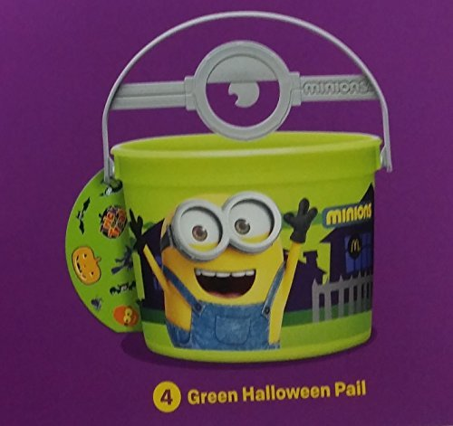 Mcdonalds 2015 Halloween Minions Pails Buckets - #4 Green by McDonald's -