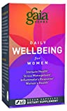Gaia Herbs Daily Wellbeing Supplement for Women, 60 Count