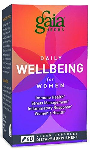 Gaia Herbs Daily WellBeing for Women, 60 Vegan Capsules - Women