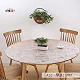 Round soft glass tablecloth/transparent table mat pvc waterproof and oil/crystal plate plastic table cloth-C diameter60cm(24inch)