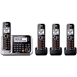 Panasonic KX-TG7874S Link2Cell Bluetooth Enabled Phone with Answering Machine & 4 Cordless Handsets (Discontinued By Manufacturer)