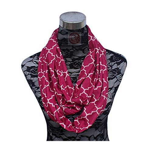 Tulas Portable Women Scarf Pocket Infinity Scarf All Match Travel Journey Scarves (A44)