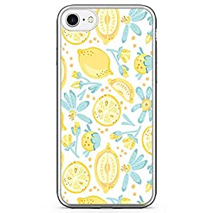iPhone 8 Transparent Edge Phone case Lime Phone Case Cute Phone Case Lemon Pattern