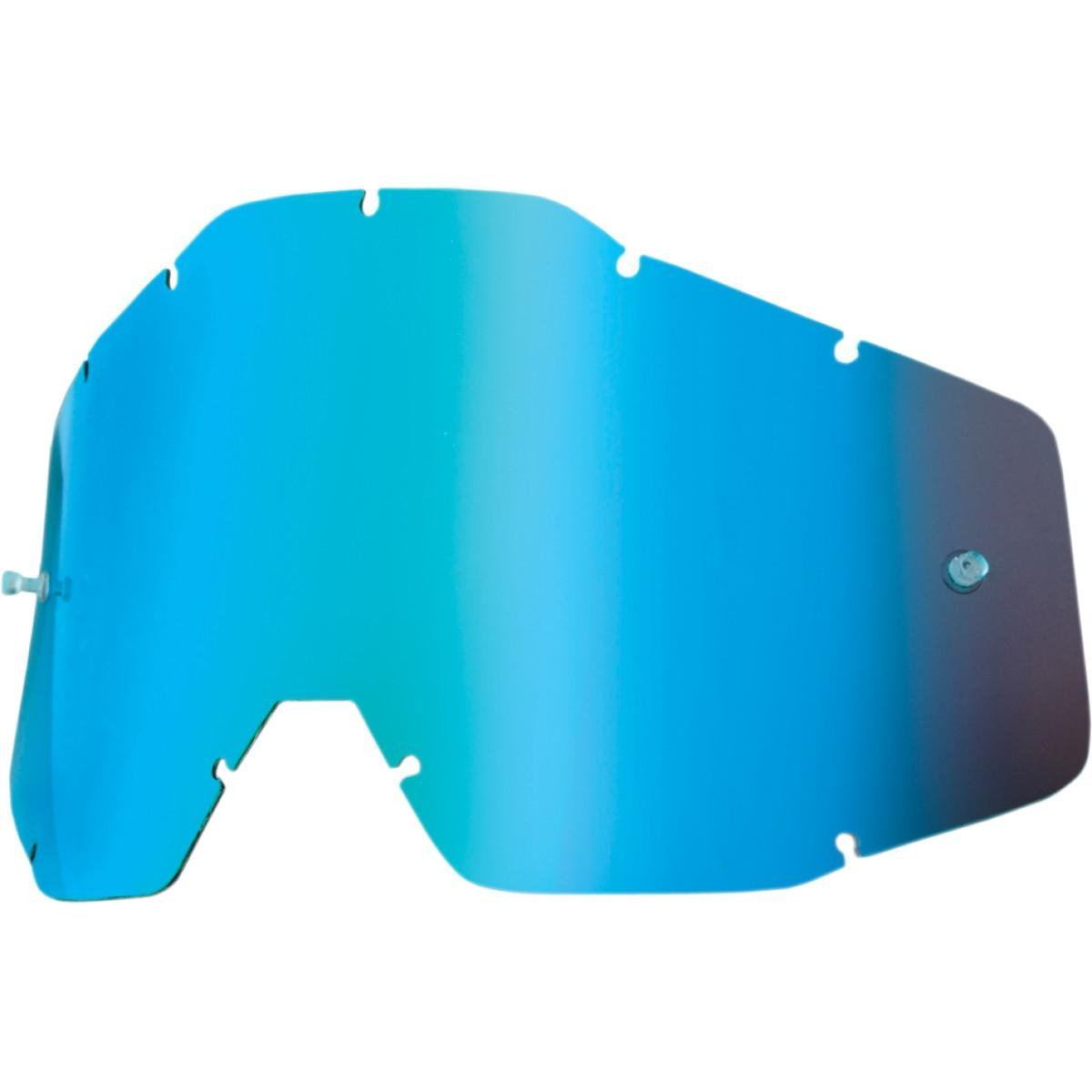 100/% Racecraft Adult Replacement Lens MotoX Motorcycle Eyewear Accessories One Size Blue Mirror//Smoke Anti-Fog