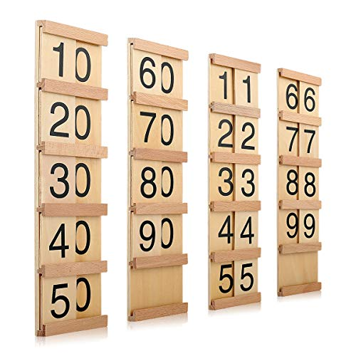 Montessori Math Material Teen & Ten Boards Educational Toy for Age 3-6 Family Version Teaching Aids (Materials Montessori Math For)