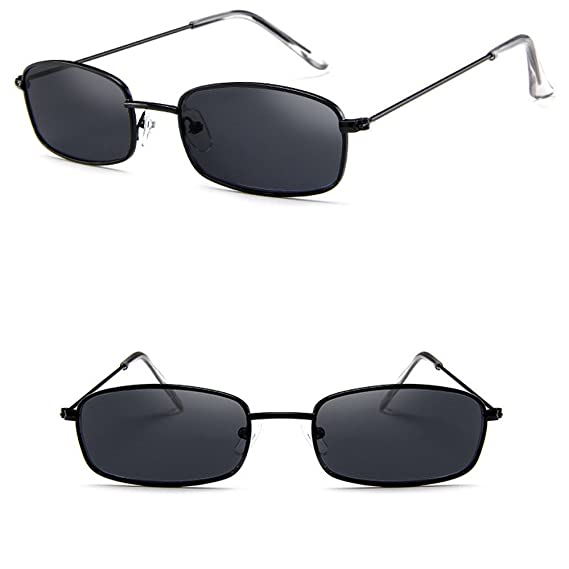 3a6f50eaeb Amazon.com  TANGSen Unisex Vintage Glasses Women Man Square Shades Small  Rectangular Frame Casual Outdoor Sunglasses  Clothing