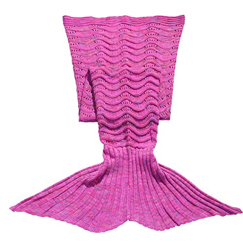 [FEESHOW Handcrafted Mermaid Tail Blanket Sofa Living Room Bedroom Sleeping Bag for Kids Children Toddlers (3-6 Years, Hot Pink)] (The Big Comfy Couch Costume)