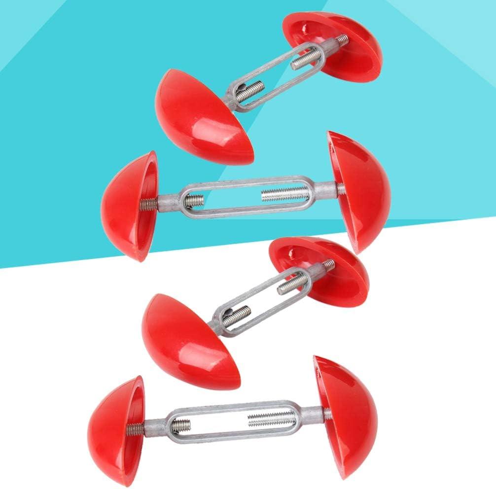 Lurrose Lot de 4 Mini /élargisseurs de Chaussures r/églables Rouge