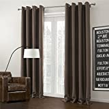 Best IYUEGO Eclipse Curtains Eclipse Curtains Blinds - IYUEGO Brown Curtain Solid Grommet Top Blackout Curtain Review