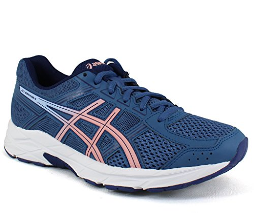 ASICS Womens Gel-Contend 4 Low Top Lace Up Running, Azure/Frosted Rose, Size 9.5