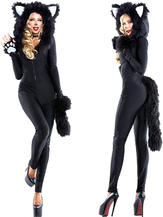 One Piece Cat Girl Cat Women Cosplay Party Panda Pack Animal DS ...