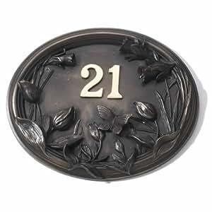 Casa muestra–acabado en bronce–primavera (números no incluido) de mariposas