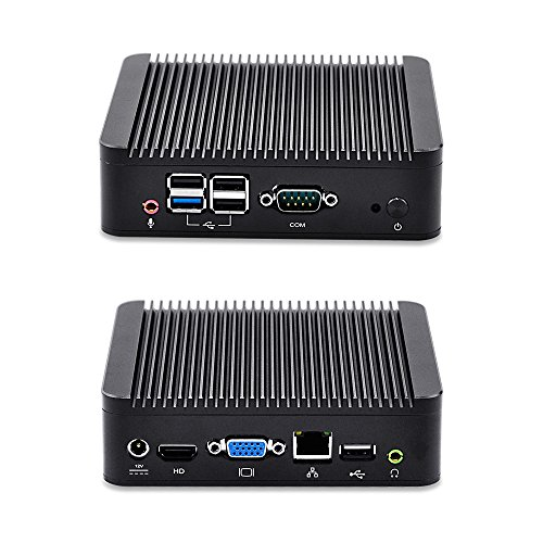 Fanless Industrial Computer Latest Desktop Computers Thin Client pc win7 Qotom-Q190N Quad core 8G ram 64G SSD 300M WiFi Multimedia pc