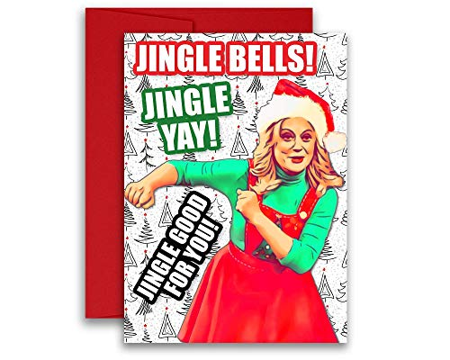 Leslie Knope Parks and Recreation Christmas Holiday Card 5x7 inches w/Envelope (Leslie Christmas Knope)