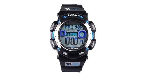 FORESEEX FSX-152G deportes relojes para hombres Teen Boys 100 m resistente al agua hora Dual Digital reloj de pulsera con alarma Cronómetro Temporizador de ...