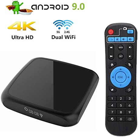 LTLZCY Android TV Box [2GB RAM+16GB ROM] Android TV Box9.0Quad-Core 64Bit Cortex-A53 Soporte 4K, WiFi 2.4G/5.0G,BT 4.0, USB 3.0 Smart TV Box,2gb+16gb,EUPlug: Amazon.es: Hogar