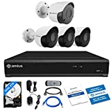 Camius 8MP Home Security Camera System 4K 8CH DVR,2TB HDD,6 pcs Analog Surveillance Outdoor Security Camera Bullet (Infrared 4x 5MP,2x 4K Outdoor Cameras),Apps,PC Mac DVR/NVR software,Internet browser