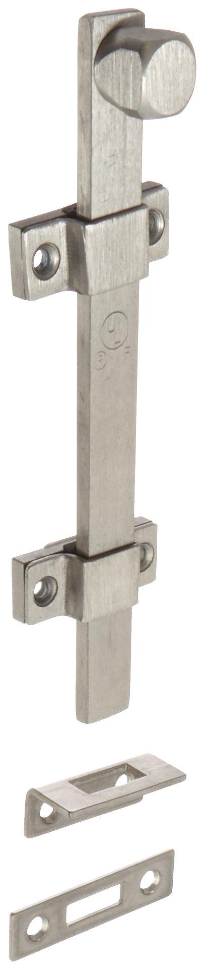 Rockwood 580-8.32D Stainless Steel Surface Bolt, UL Listed, 8'' Length, Satin Finish
