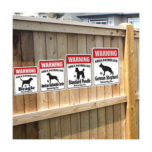 Alaskan Malamute Security Sign Area Patrolled pet Warning Veterinary Assistant 4
