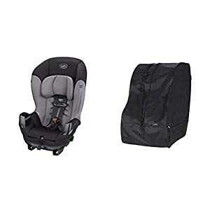 Evenflo Sonus Convertible Car Seat, Charcoal Sky with Car Seat Travel & Storage Bag