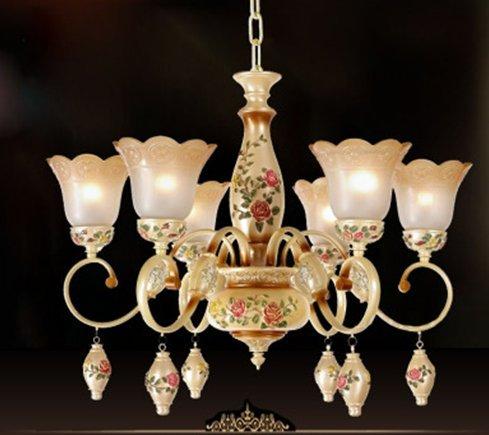 Lámparas de jardín europeas, luz de techo, lámpara de araña ...