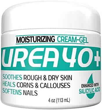 Urea 40% Plus 2% Salicylic Acid Cream, Dermatologist Recommended Exfoliating Skin Moisturizer & Foot Cream (4oz)