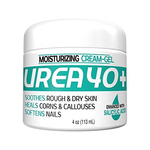 Urea 40% Plus 2% Salicylic Acid Cream, Dermatologist Recommended Exfoliating Skin Moisturizer & Foot Cream (4oz)