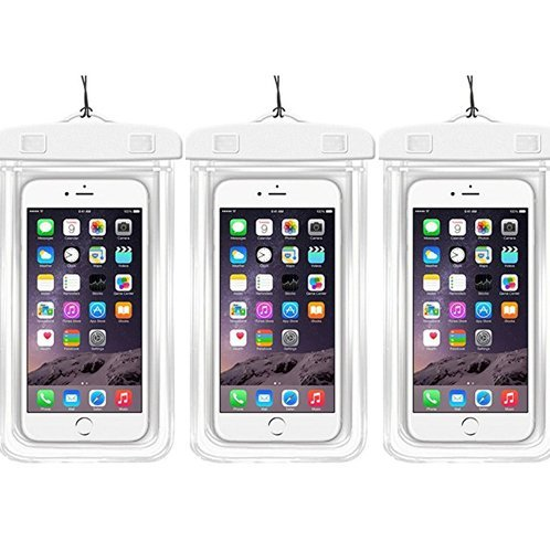 Waterproof Case Universal CellPhone Dry Bag Pouch CaseHQ for Apple iPhone 6S, 6, 6S Plus, SE, 5S, Samsung Galaxy S7, S6, HTC LG Sony Nokia Motorola up to - Sunglasses 60 Minutes