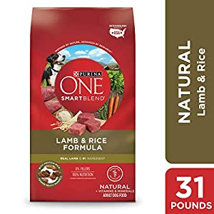 Purina ONE Natural Dry Dog Food; SmartBlend Lamb & Rice Formula - 31.1 lb. Bag 53