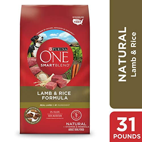 Purina ONE Natural Dry Dog Food; SmartBlend Lamb & Rice Formula - 31.1 lb. Bag]()